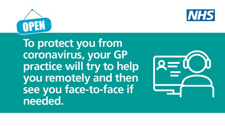 Protect you from coronavirus, your GP practice will try to help you remotely and then see you face-to-face if needed.